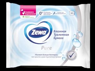 Zewa Влажная туалетная бумага  Без аромата