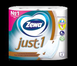 Zewa Туалетная бумага  Just1, 4 слоя