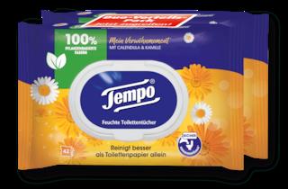 "Tempo Feuchte Toilettentücher ""Mein Verwöhnmoment"" - Kalendula & Kamille"