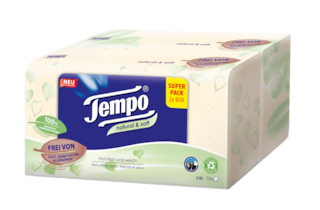 Tempo natural & soft Taschentuch Box