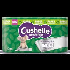 Cushelle Double Rolls in Paper Packaging