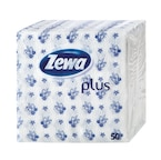 Zewa Plus kék mintás szalvéta