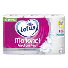 Lotus Papier toiletteMoltonel Fraîcheur Pure