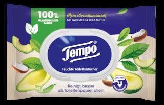 "Tempo Feuchte Toilettentücher ""Mein Verwöhnmoment"" - Avocado & Shea Butter"