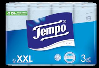 Tempo WC Papier Classic blau 3 lagig