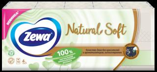Zewa Natural Soft, 4 слоя, 9х10