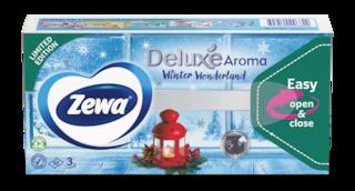Zewa Deluxe Winter Wonderland papír zsebkendő
