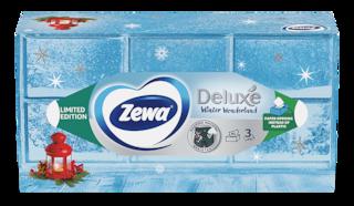 Zewa Deluxe Winter Wonderland dobozos papír zsebkendő