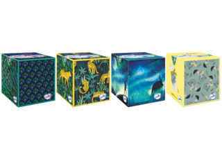 Lotus Boîte mouchoirs  Cubique
