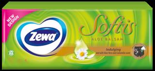 Zewa Softis Aloe Balsam papír zsebkendő