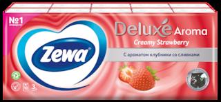 Zewa Deluxe Клубника со сливками, 3 слоя