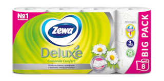 Zewa Туалетная бумага  Deluxe Ромашка, 3 слоя