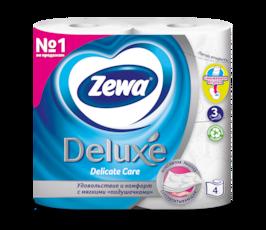 Zewa Туалетная бумага  Deluxe Белая, 3 слоя