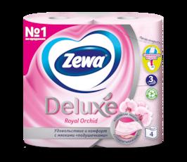 Zewa Туалетная бумага  Deluxe Орхидея, 3 слоя