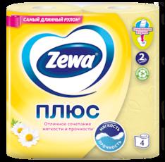 Zewa Туалетная бумага  Плюс Ромашка, 2 слоя
