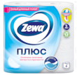 Zewa Туалетная бумага  Плюс Белая, 2 слоя