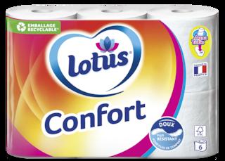 Lotus Papier toiletteConfort Rose ou Blanc