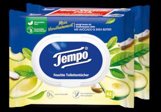 "Tempo feuchte Toilettentücher ""Mein Verwöhnmoment - Avocado & Shea Butter"""