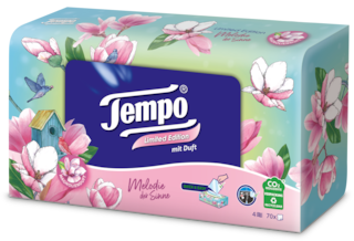 """Tempo Taschentuch Box Duft """"Melodie der Sinne"""""""