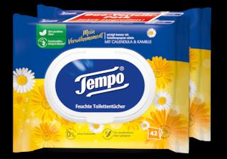 "Tempo feuchte Toilettentücher ""Mein Verwöhnmoment - Calendula & Kamille"""