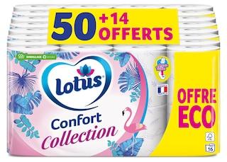 Lotus Papier toiletteConfort Collection Blanc ou Lilas