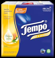 Tempo soft & sensitive zakdoekjes 8x9