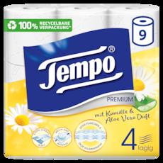 Tempo WC Papier Premium mit Kamille und Aloe Vera Duft 4 lagig
