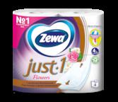 Zewa Туалетная бумага  Just1 Цветочный Аромат, 4 слоя