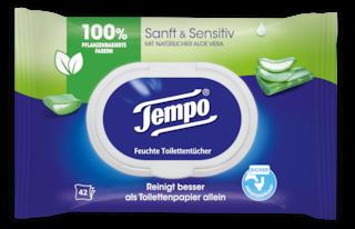 Tempo Feuchte Toilettentücher sanft&sensitive
