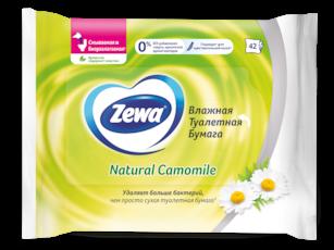 Zewa Влажная туалетная бумага  Ромашка