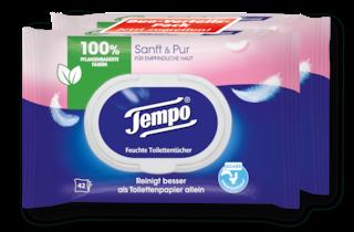 Tempo Feuchte Toilettentücher sanft&pur